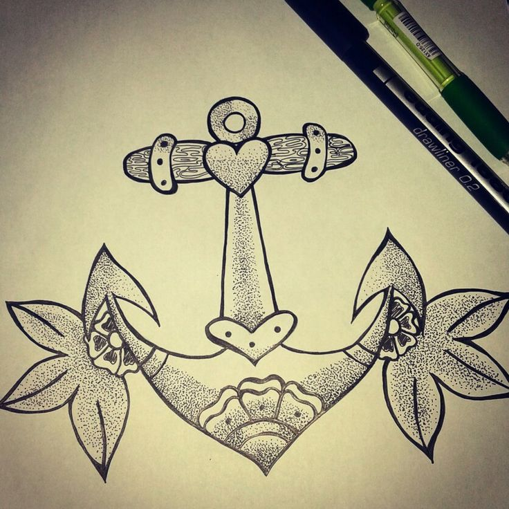 Anchor tattoo design by me.
