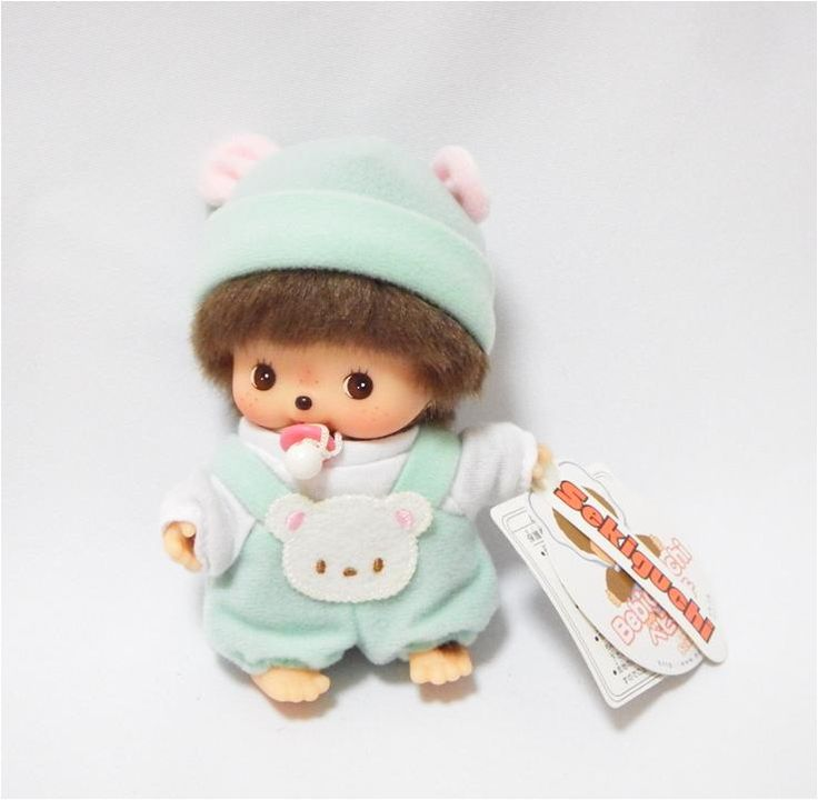 Bebichhichi 235960 - Bebichhichi Rompers Green Bear. Authentic Bebichhichi doll from Sekiguchi. About 14cm. Suitable for child aged 6 years old and above. Ideal Birthday gift, Valentine's Day gift, Christmas gift, New Year gift, Children's Day gift and Housewarming gift! A favourite for Monchhichi & Bebichhichi doll collectors too!