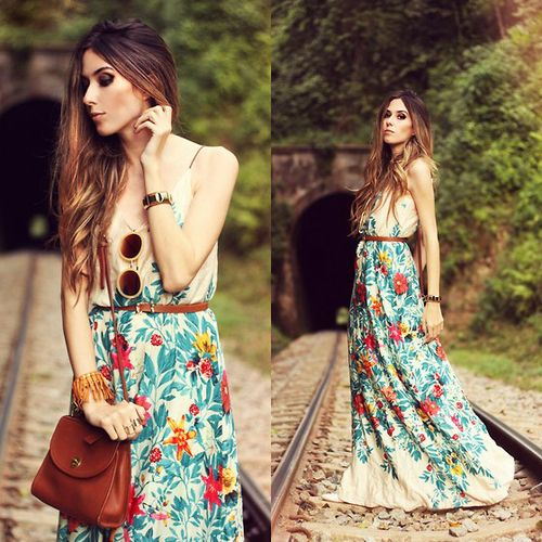 #fashion #flowers #dress #mode
