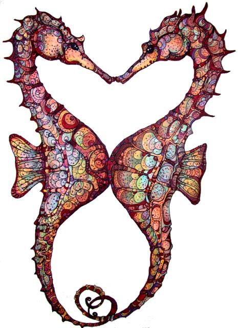 """I adore Seahorses...Seahorse is the title given to 54 species of marine fish in the genus Hippocampus. """"Hippocampus"""" comes from the Ancient Greek hippos meaning """"horse"""" and kampos meaning """"sea monster"""""""
