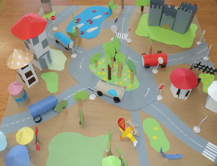 Doprava ve městě - společná 3D práce dětí