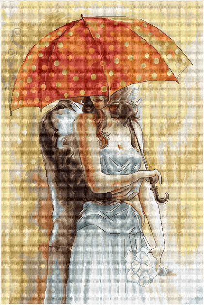 Under the Umbrella II Cross Stitch Kit: Cross stitch (Luca-S, B555)
