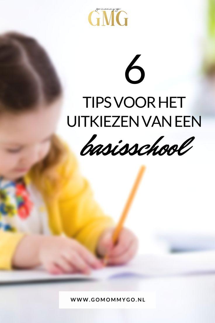6 tips voor het uitkiezen van een basisschool     Een school uitkiezen waar je kind zo'n 8 jaar gaat doorbrengen, dat is best een klus! Maar waar kies je een basisschool op uit?  www.gomommygo.nl
