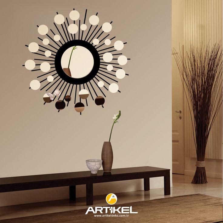 Evinizin dekorundan sıkıldıysanız, sade ve şık bir ayna sayesinde farklı bir dekor oluşturabilirsiniz. #dekoratifayna #art #evdekorasyon #dekorasyonfikirleri