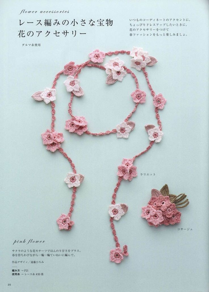 Floral decoration hook of Japanese magazine