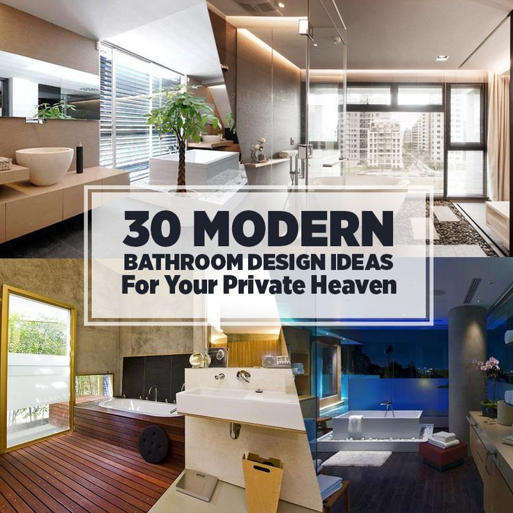 Indulge in relaxing moments in your own stylishly designed and decorated bathroom! We've chosen 30 stunning modern bathrooms to serve as inspiration. Enjoy!