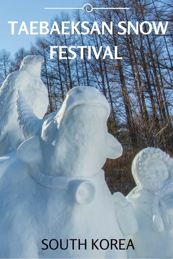 Taebaeksan Snow Festival in South Korea is one of many winter festivals in the country. Home to over 30 giant snow sculptures which are pretty impressive to see in real life. Click here to see some of our favourite sculptures. Ravenous Travellers | Travel Blog