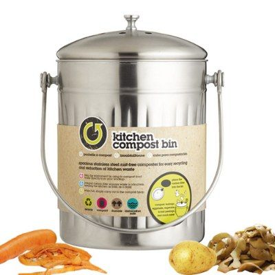 Poubelle+inox+bac+a+compost+5+litres+-+Kitchen+Craft