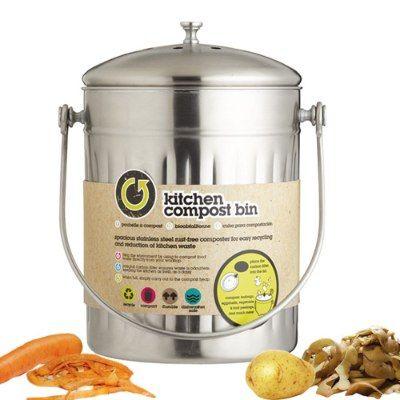 Poubelle+inox+bac+a+compost+5+litres+-+Kitchen+Craft