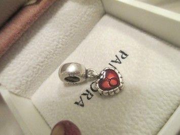 df8e8aacd PANDORA Sterling Silver Bead-red Enamel Love Heart Dangle 790471en07 Charm  | Pandora | Pandora beads, Silver beads, Pandora