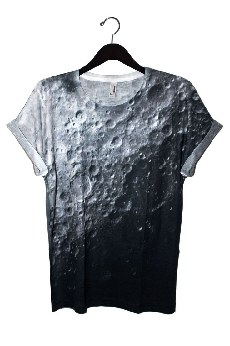 Moon Tee. Unisex. 100% Polyester tee featuring a really awesome image of the Moon's surface. Relaxed fit, soft material. Model wears Medium. International Shipping Available. Please note: Due to the p
