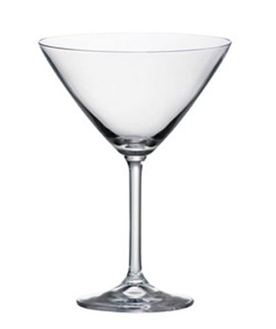 The Gastro Martini glass features a classic martini shape and a long elegant stem.  Perfect for your favorite cocktail. Set of 6 glasses Holds holds 280 ml (approx 9.5 ounces) Lead free crystal, enriched with titanium for added strength and scratch resistance Dishwasher safe Gift Boxed