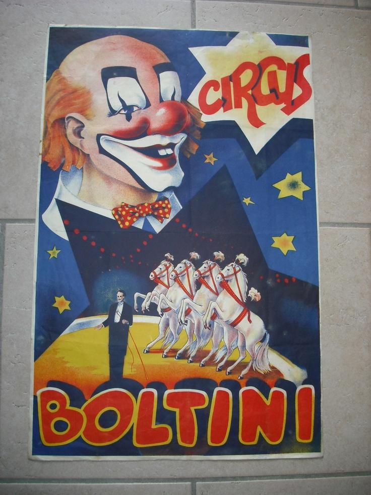 Ancienne Affiche Cirque Vintage Circus Poster Circus Boltini Clown 1950 | eBay