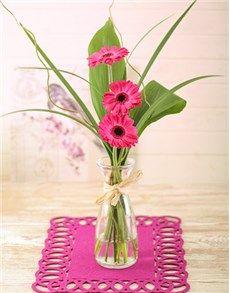 Singapore Flowers: Stepped Pink Gerbera Arrangement Petite!