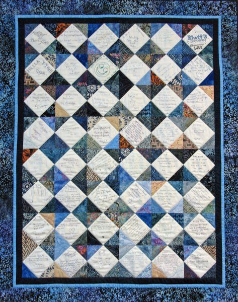 Mad About Quilts: Wedding Signature Quilt-Meghan & David