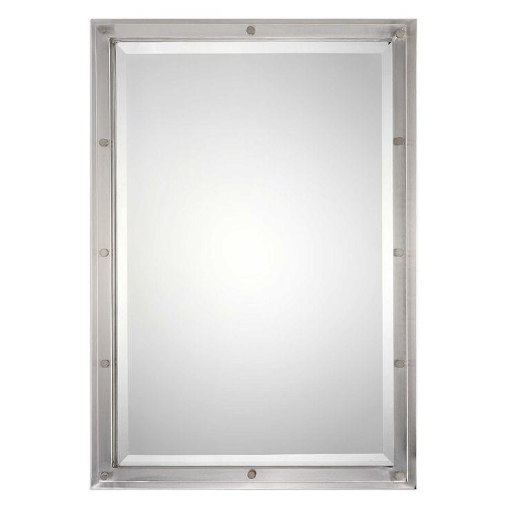 brushed nickel bathroom mirror. Uttermost Manning Brushed Nickel Mirror Best 25  nickel mirror ideas on Pinterest