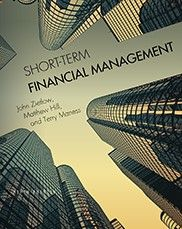 Short-Term Financial Management (Fifth Edition) By John Zietlow, Matthew Hill, and Terry Maness This text provides a comprehensive overview of topics that are vital for anyone interested in a career in corporate finance. The book is a well-rounded survey of the time value of money, the basics of financial statement analysis, the cash conversion cycle, bank relationship management, and statistical tools. Each chapter includes learning objectives, discussion questions, and sample problem...