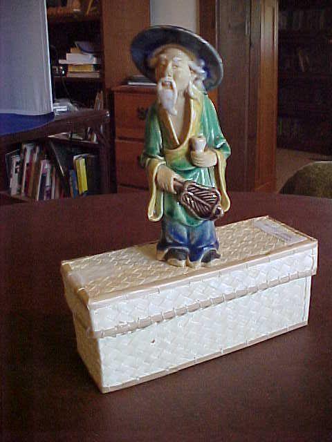 CHINESE MUDMAN FIGURINE with Original Web Box -ebay