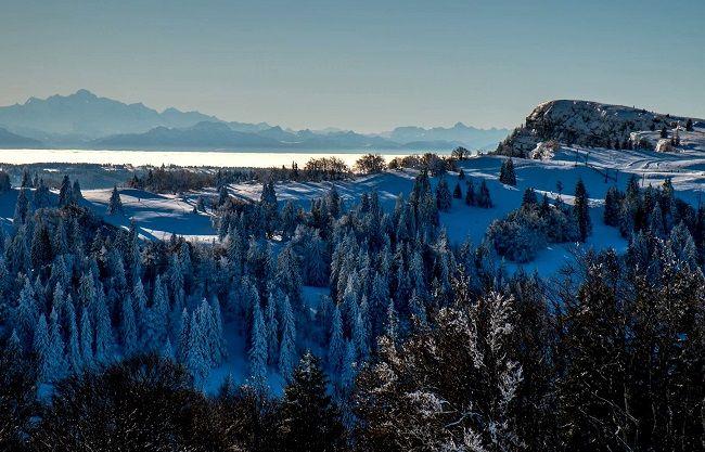 Magnifique vue sur le Mont-Blanc depuis Métabief