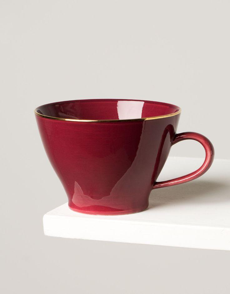 PLAIN GOLD CUP mug