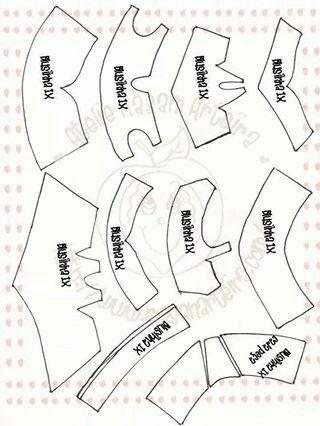 Molde de blusas para fofuchos