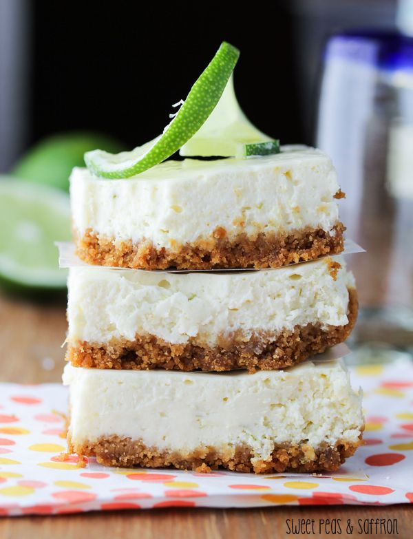Tequila-Lime Cheesecake Bars | sweetpeasandsaffron.com