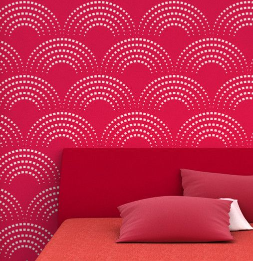 1000 ideas about wall painting stencils on pinterest for Free wall painting designs