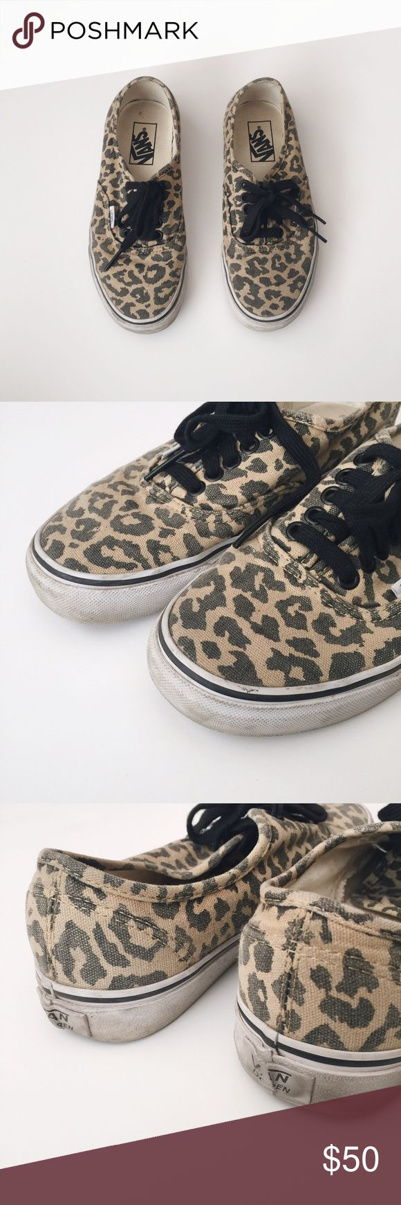 Vans Animal Print Authentics Pre-owned Vans Animal Print Authentics. Animal print has original faded look. Soles are dirty from wear, but good condition! Vans Shoes Sneakers