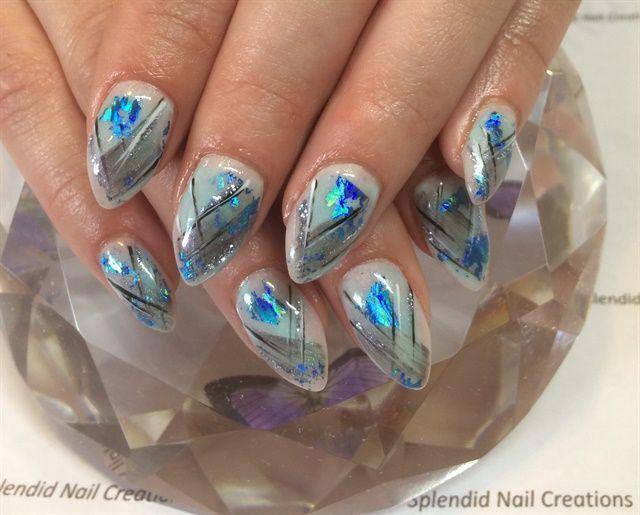 Day 88 Abstract Blues Nail Art Nails Magazine Nails Nail