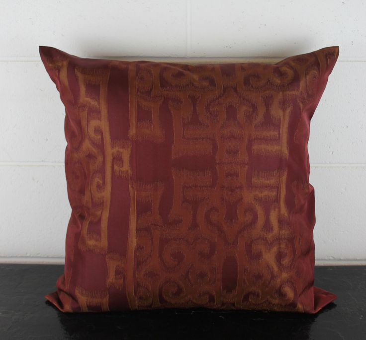 Unique Moroccan Inspired Maroon and Gold Cushion Scatter Pillow Cover. ExclusiveDesign by Peacock and Penny. 50cm x 50cm by PeacockandPenny on Etsy