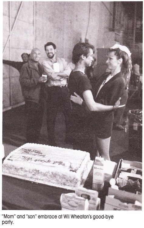 Wil Wheaton's last day shooting Star Trek T.N.G. I think this is Stage16 at Paramount.