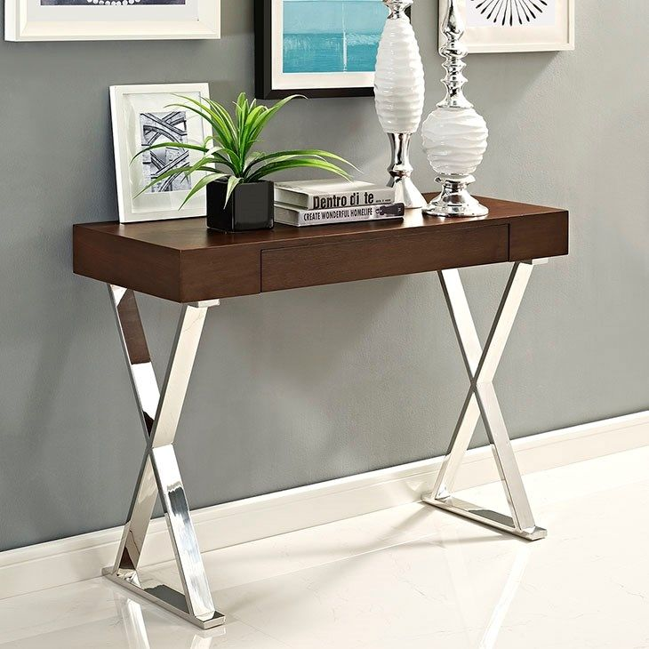 sector console table in brown