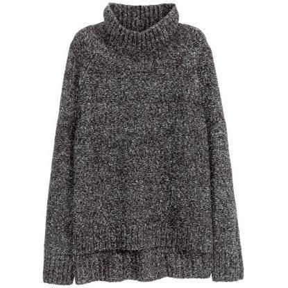 Jessie James Decker wearing H&M Knit Turtleneck Sweater