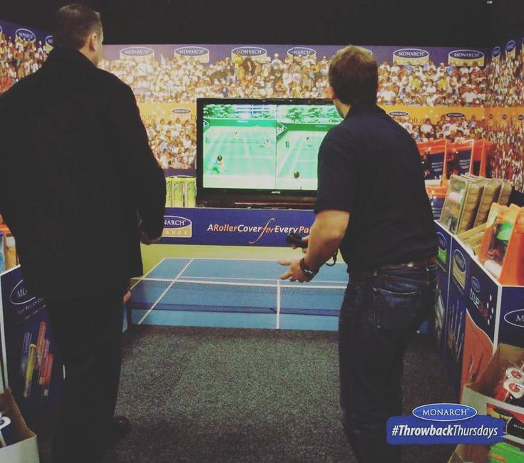 As @australianopen kicked off yesterday, here's one for our tennis enthusiast fans, when we set-up a virtual tennis game in one of our stands in an expo in 2010. #AustralianOpen #Tennis #ThrowbackThursday #MonarchBrushes #Paint #Painting #workhardplayhard #Nintendowii #Virtualtennis #Expo #Bunnings #TBT #Thursdays #GreatCompanyGreatPeople