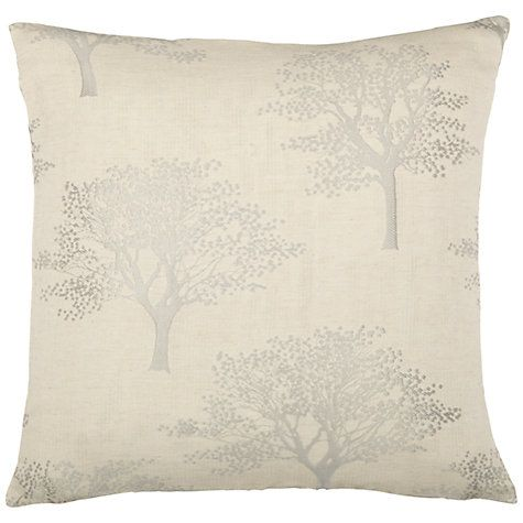 Buy John Lewis Oakley Trees Cushion Cover, Natural Online at johnlewis.com