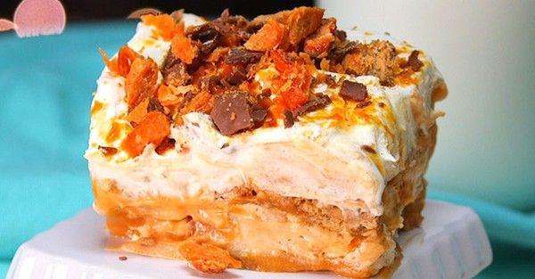 Butterfinger Dessert Lasagna Ain't Your Average Lasagna