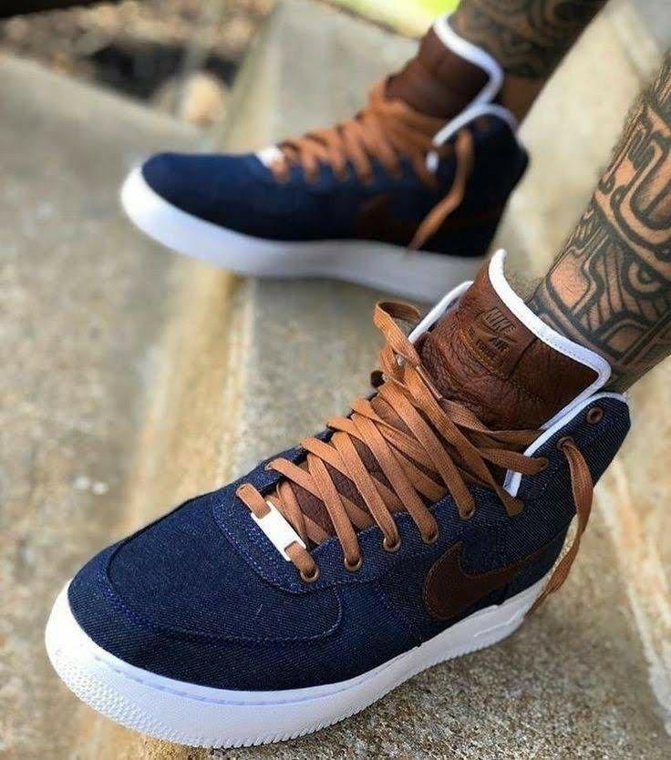 Denim Nike AF1 | Sneakers men fashion