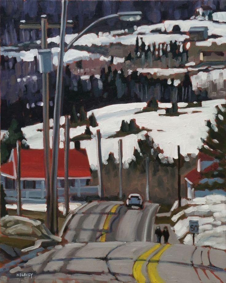 """Leaving Les Eboulements, oil on canvas, 16"""" x 20"""" by David Kelavey"""
