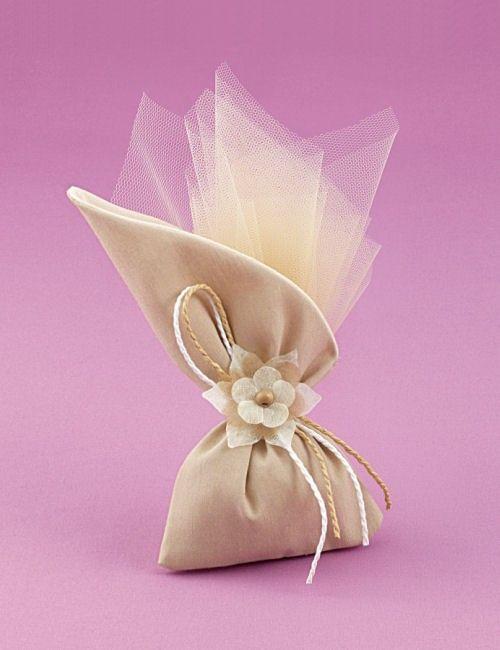 www.mpomponieres.gr Μπομπονιέρα Γάμου Πουγκί Λοξό Βαμβακερό