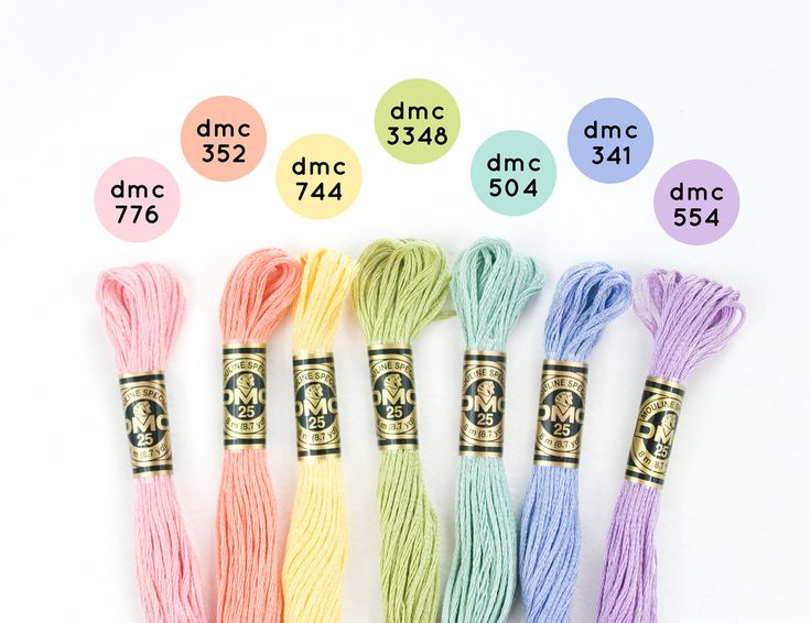 DMC Threads Rainbow Combos - Practically Pastel