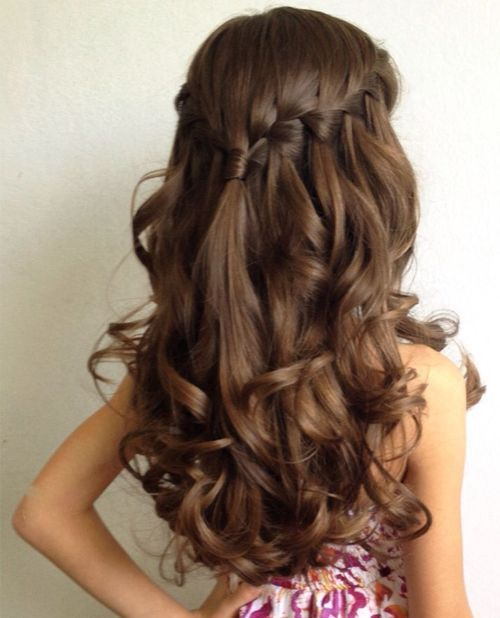 Waterfall braid. wedding hairstyles for little girls best photos - wedding hairstyles  - cuteweddingideas.com