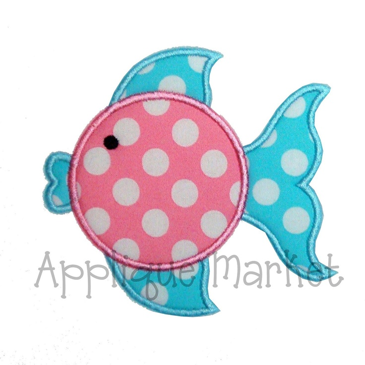 Machine Embroidery Design Applique Blowfish by tmmdesigns on Etsy, $4.00