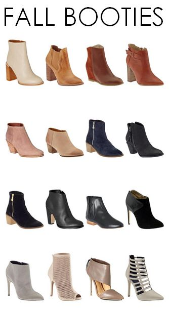 Fall Must-Haves: Booties in every color!