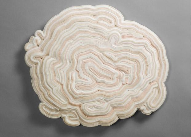 felt coils by Kate Carr: Carr Sculpture, Inspiration Artists, Hands Sewn Felt, Textiles Art, Kate Carrart, Carr Felt Coils 1, Textiles Sculpture, Fiber Art, Sculpture Piece