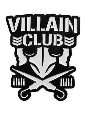 """Get in the ring with New Japan Pro-Wrestling! This metal and enamel pin features the """"Villain Club"""" logo design.    1 1/4"""" x 1 1/4""""  Metal; enamel  Imported"""