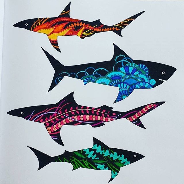 17 best Lost Ocean Pages 29-30 Sharks! images on Pinterest ...