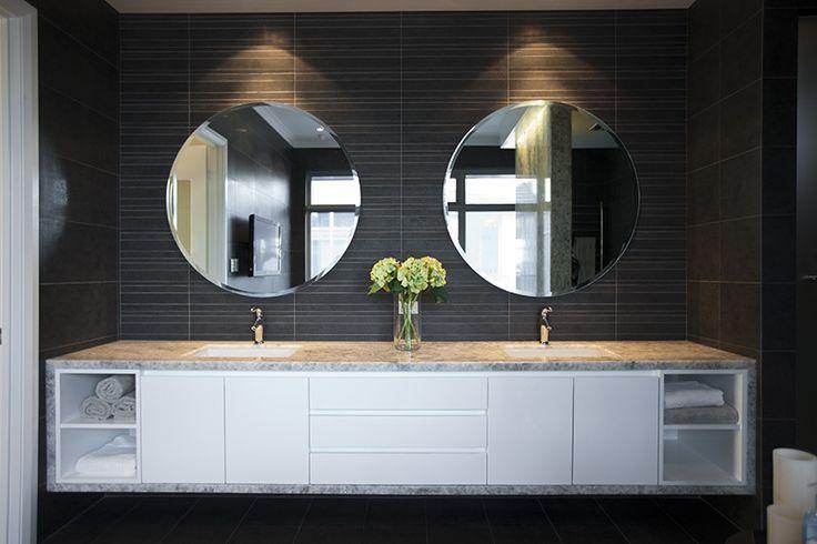 Beautiful twin vanities in our Palais display home bathroom