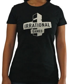 Irrational Games Logo T-Shirt (Women's) via the Irrational Games Store.