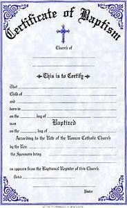 Baptism Certificate Sample