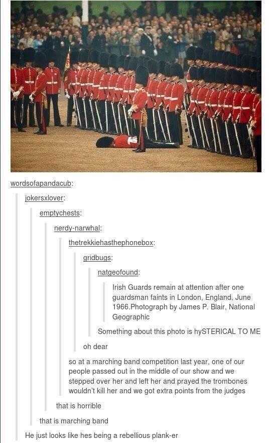 Haha the marching band quote!! Its so true!!